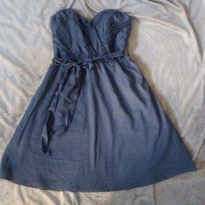 Express Teal strapless sweetheart neckline dress 0